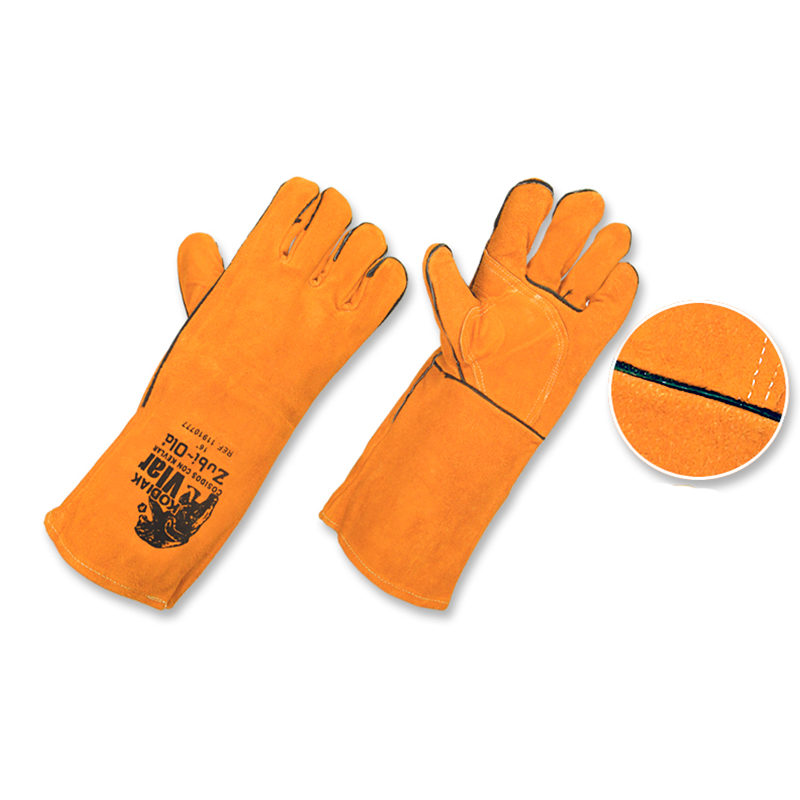 GUANTES INDUSTRIALES CARNAZA/KEVLAR 16""