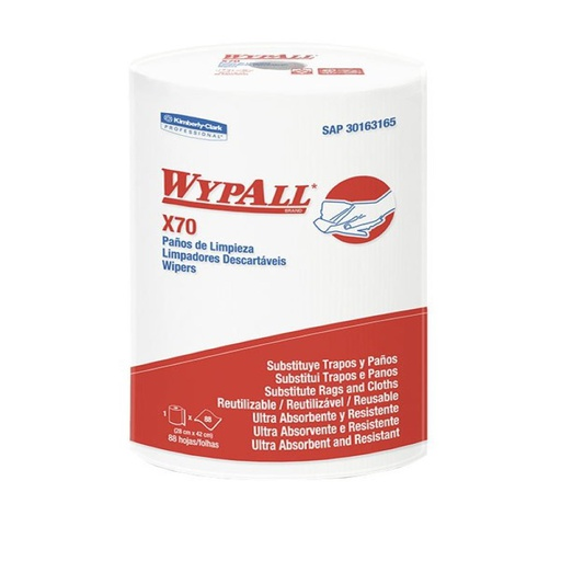 [152040040] WIPERS WYPALL X-70 REGULAR ROLL 88 HOJAS 42X28CM REF: 30163165