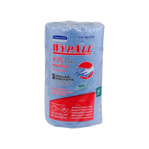 [152040075] WIPERS WYPALL X-75 INDUSTRIAL 42 X 28 CM X 60 UN REF: 30210128